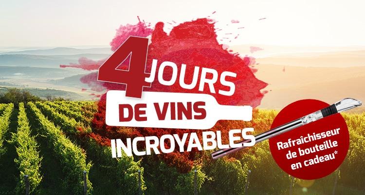 4 jours d'incroyable vins